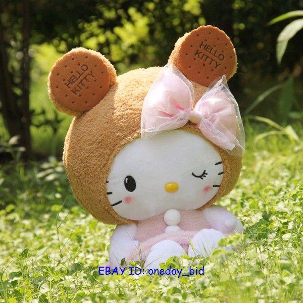 Sanrio Hello Kitty Turn into Bear Plush Doll Toy 17H