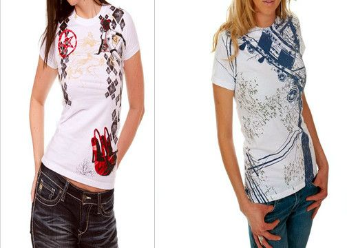 ladies tees by ECC/ cool urban street style t shirts punk hip hop